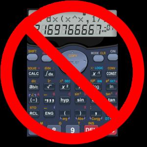 Calculator not allowed