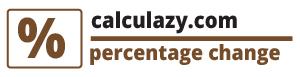 Percentage change calculator - calculazy.com
