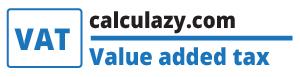 VAT value added tax calculator - calculazy.com